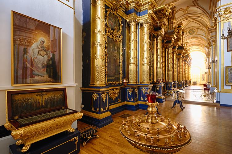 Saint Petersburg, Russia. 11 March 2014. Interior of St. Nicholas Naval Cathedral. © Igor Ilyutkin